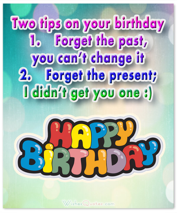 Two funny tips on your birthday… - AZBirthdayWishes.com