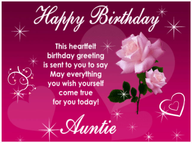 Heartiest birthday greetings sent to aunt… - AZBirthdayWishes.com