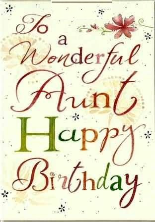 To my wonderful aunt… - AZBirthdayWishes.com