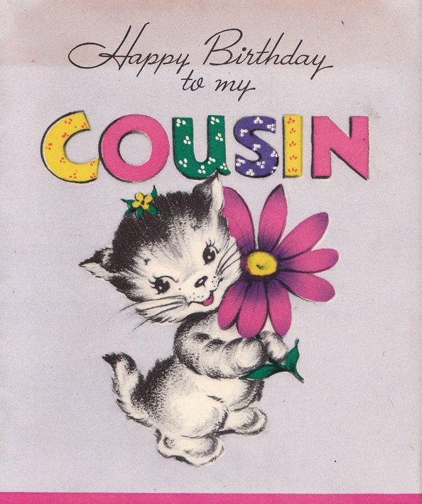 Happy birthday cousin cute card… - AZBirthdayWishes.com