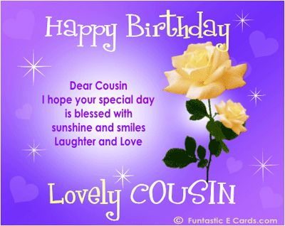 Dear cousin I hope your special day is blessed with… - AZBirthdayWishes.com