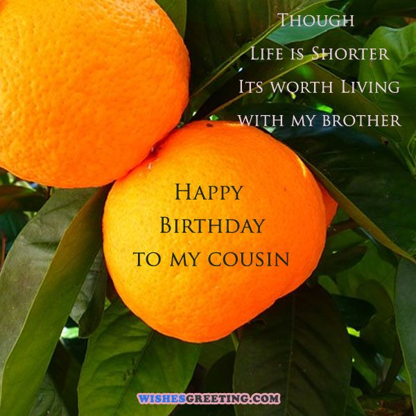Life is worth living with a cousin. Happy Birthday… - AZBirthdayWishes.com
