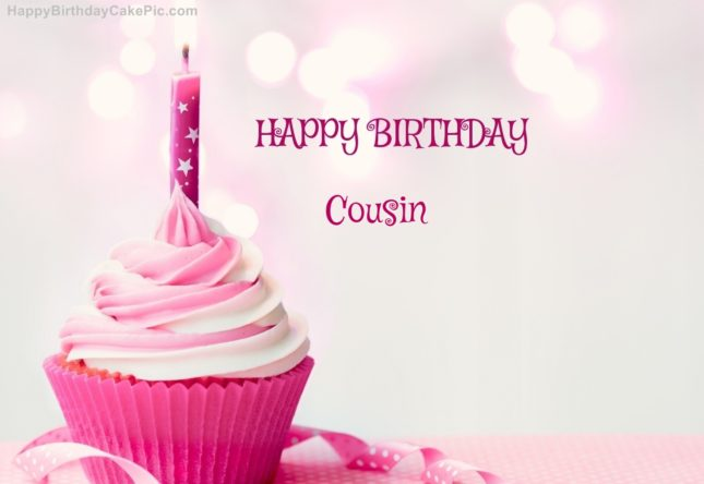 Happy Birthday cousin with cake… - AZBirthdayWishes.com
