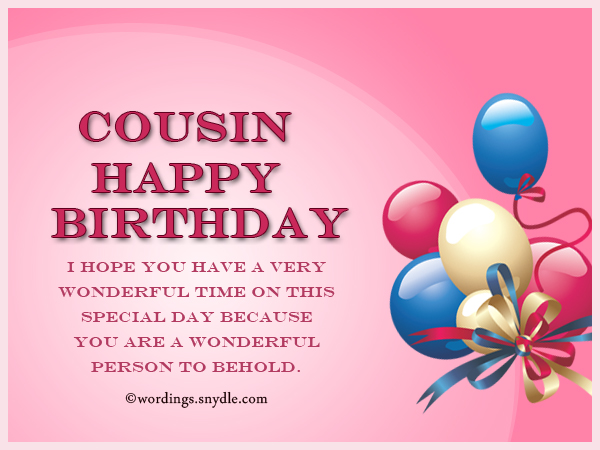 Cousin Happy Birthday … - AZBirthdayWishes.com