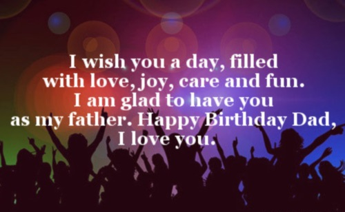 Glad to have you as my father… - AZBirthdayWishes.com