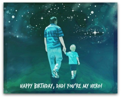 Happy Birthday Dad. You are my hero… - AZBirthdayWishes.com