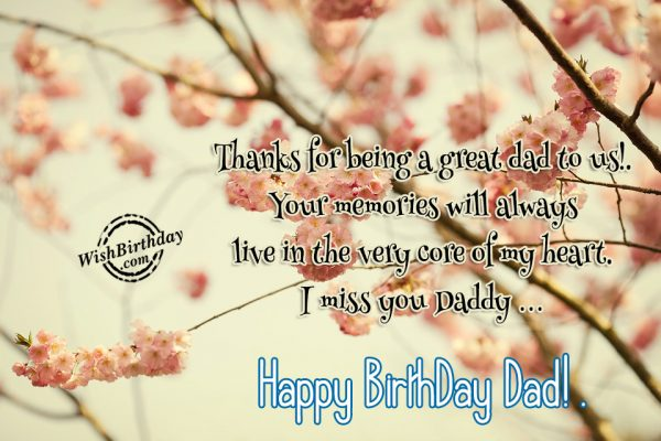 Thanks for being a great dad…Happy Birthday Papa… - AZBirthdayWishes.com